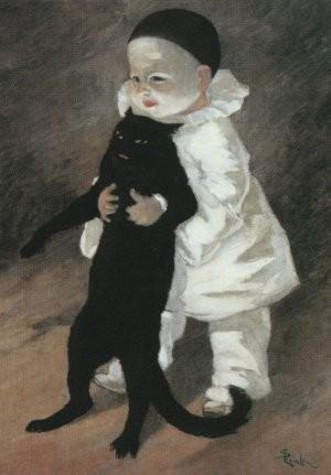 Pierrot et chat noir