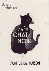 buvard café chat noir