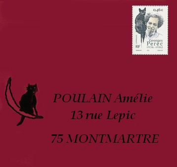 courrier postal chat noir
