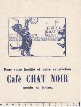 café chat noir - buvard publicitaire