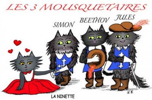 3 mousquetaires -Auteur Zaza-La Ninette