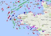 les navires en temps réel