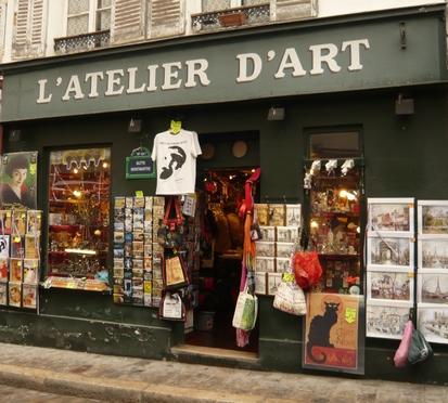 Chat noir atelier d'art Montmartre