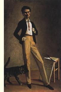 Balthus et son chat noir -autoportrait