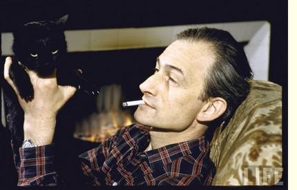 Balthus et chat noir Orphée 1956