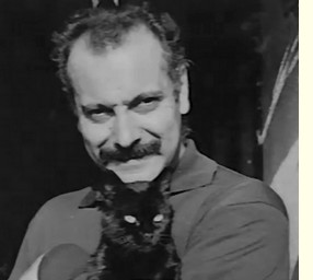 Georges Brassens-chat noir