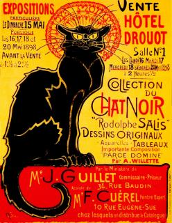 Vente du Chat Noir- Paris 1998