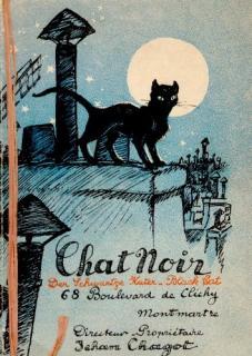 Programme du Chats Noir Montmartre -J.Chargot