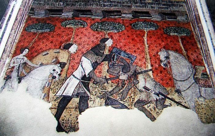 Un chevalier qui défend sa princesse.... Quelle belle histoire !